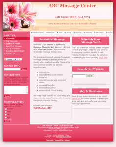 With your massage liability insurance policy, you can customize this perfectly pink template to reflect your practice's unique personality. Start building your online presence today!