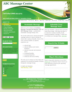 With your massage liability insurance policy, you can customize this breezy green template to reflect your practice's unique personality. Start building your online presence today!