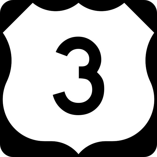 Highway 3 sign image