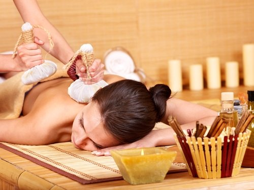 woman receiving massage image