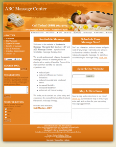 With your massage liability insurance policy, you can customize this delicious, citrus orange template to reflect your practice's unique personality. Start building your online presence today!