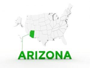 arizona state map outline