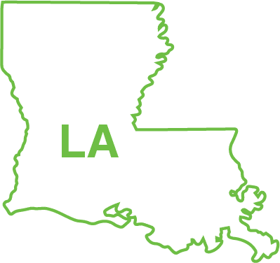 Louisiana state map outline